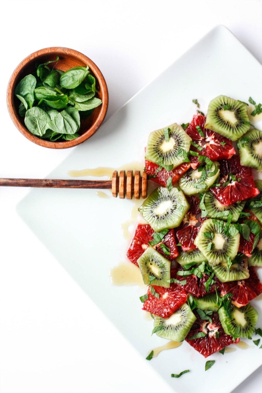 Blood Orange, Kiwi & Mint Fruit Salad